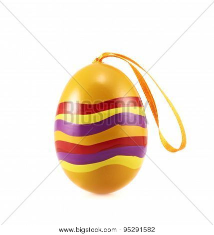 Easter egg with a loop ribbon