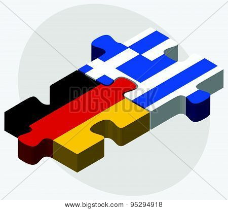 Germany And Greece Flags