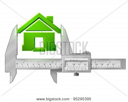 Caliper Measures House Symbol