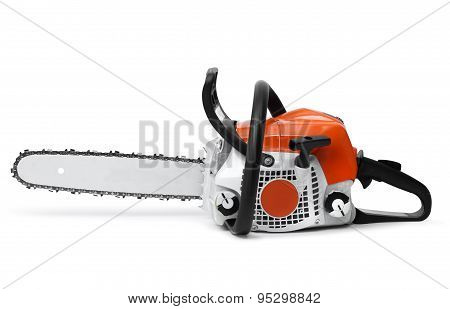 Modern Chain Saw Isolated