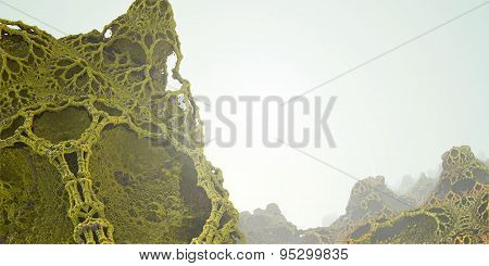 Computer Rendered Abstract Landscape