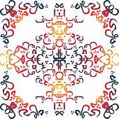 pic of arabic calligraphy  - seamless pattern ornament Arabic calligraphy of text Eid Mubarak concept for muslim community festival Eid Al Fitr - JPG
