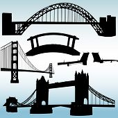 picture of brooklyn bridge  - various bridge illustrations - JPG