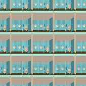 stock photo of pissoire  - Toilet interior vector illustration seamless pattern - JPG