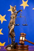 Gavel And Flag Europe poster