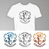 Постер, плакат: Text on t shirt Dragon