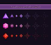 foto of gem  - Gemstone Explosion Effect - JPG