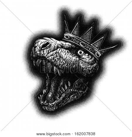 Tyrannosaurus Dinosaur Hand drawn Jpeg version.