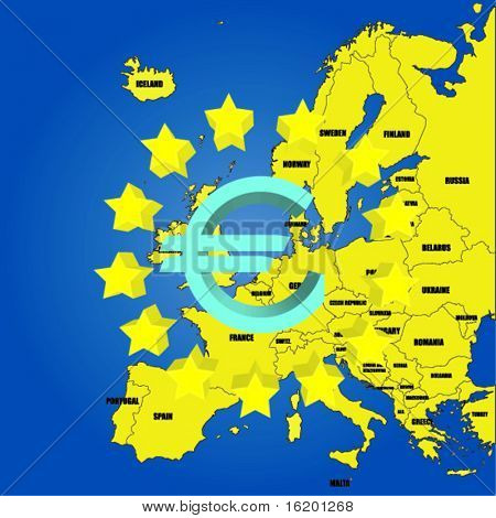 Map of Europe -UE