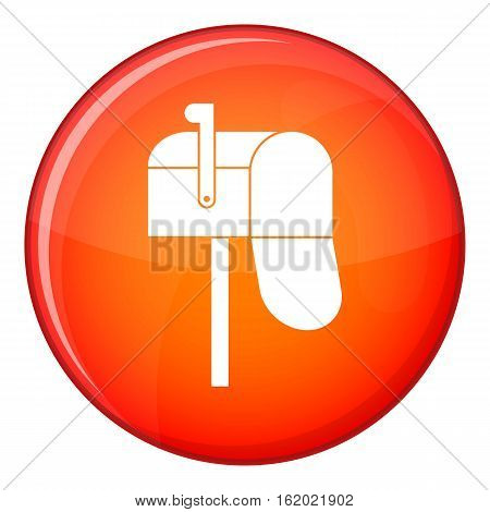 Open mailbox icon in red circle isolated on white background vector illustration