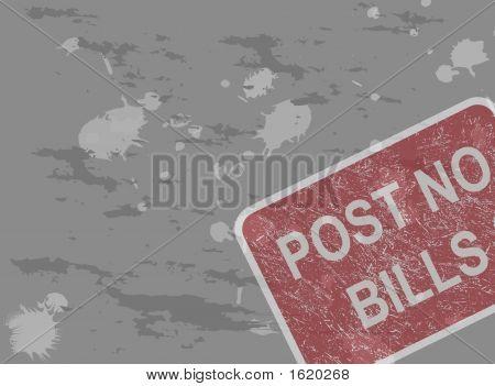 Post No Bills Background