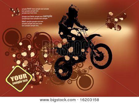 Motorcyle grunge vector
