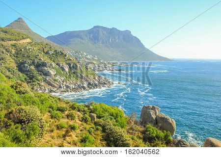 The winding stretch of road between Hout Bay and Noordhoek near the Cape of Good Hope and Cape Town is one of the most attractive sightseeing monuments in South Africa.