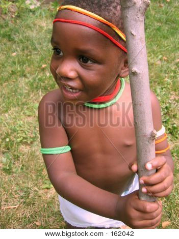 Boy With Stick