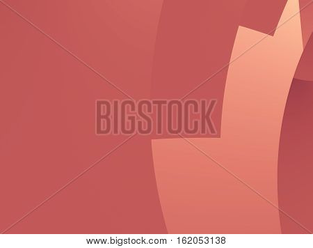 Abstract fractal with clean cut curves resembling stylized stairs or a gear part in tame red and orange hues. Text space. For technical and industry based layouts skins leaflets pamphlets books.