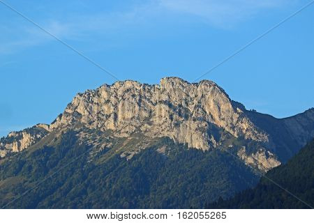 Rock peaks in the French Alps by Annecy