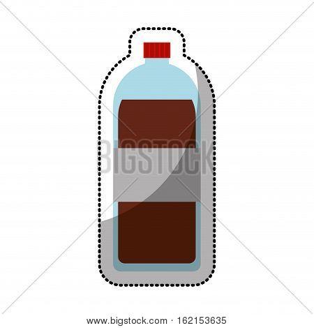 soda bottle isolated icon vector illustration design