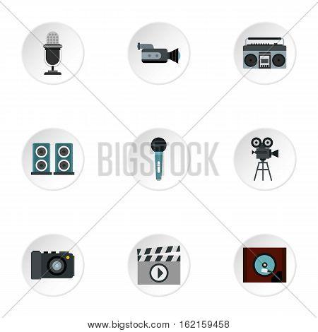 Electronic equipment icons set. Flat illustration of 9 electronic equipment vector icons for web