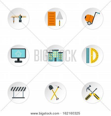 Repair icons set. Flat illustration of 9 repair vector icons for web