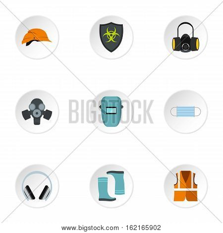 Construction ground icons set. Flat illustration of 9 construction ground vector icons for web