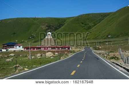 Mountain Road In Sichuan, China