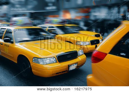 New York Cabs Times Square