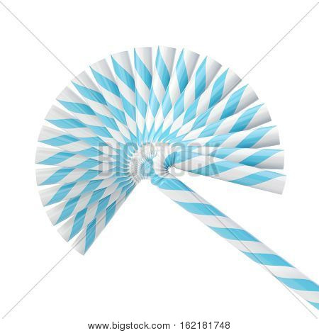 Set of drinking straws isolated on white 3d render