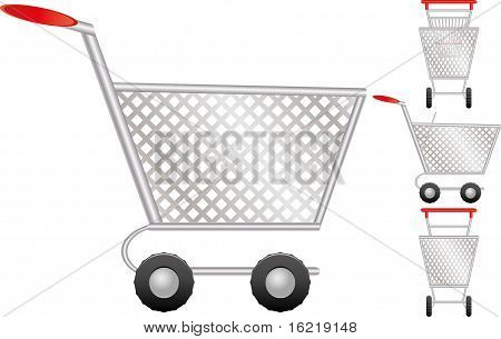 Set of shopping cart