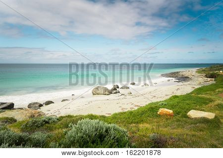 Seascape of Cape Leeuwin along the Indian Ocean Augusta Western Australia .