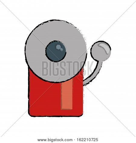 drawing alarm fire emergency alert icon vector illustration eps 10