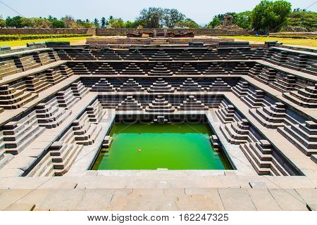 Historic building in Hampi, Unesco world heritage site, Karnataka, India