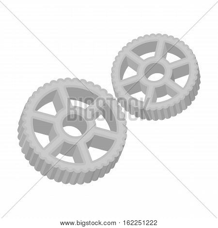 Rotelle pasta icon in monochrome style isolated on white background. Types of pasta symbol vector illustration.