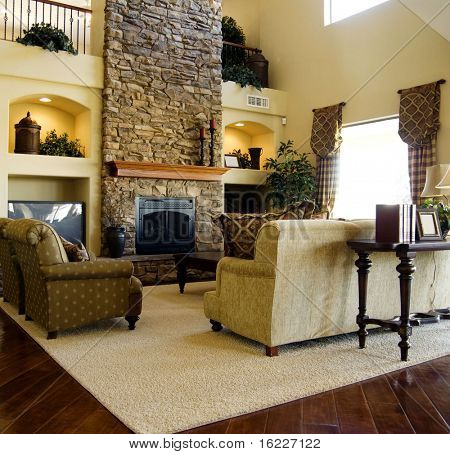 Hard wood flooring in living room area