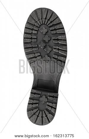 Bottom of boot isolated on white background