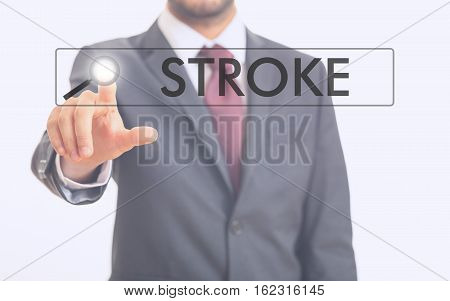 Man Pointing At Word Stroke