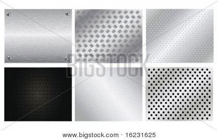 Set Of Silver metal plates