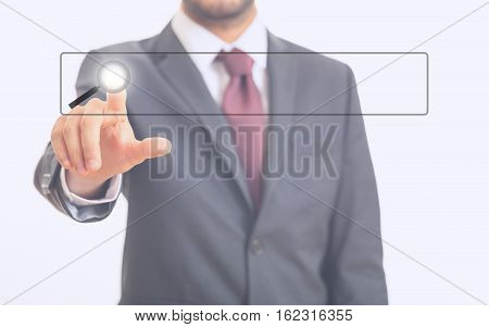 Man Pointing At A Screen