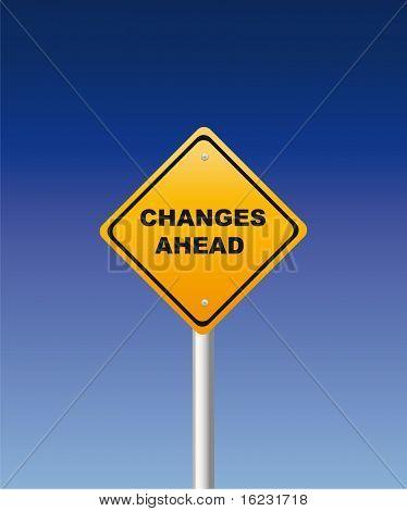 Wijzigingen vooruit