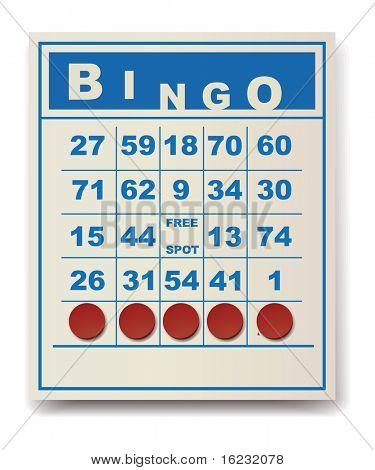 tarjeta de Bingo