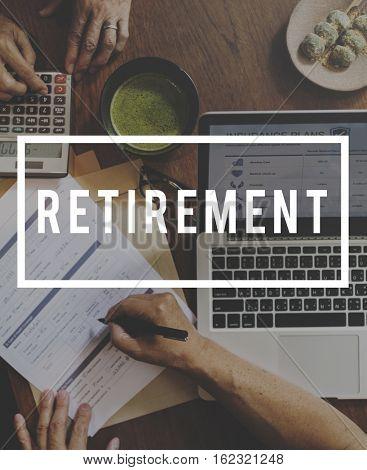 Retirement Plan Senior Adult Concept