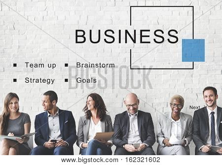 Business Startup Strategy Goals Concept