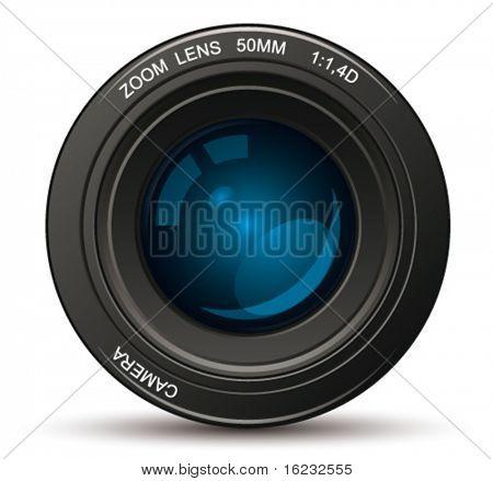 Photo lens. Vector