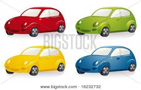Car set. Vector