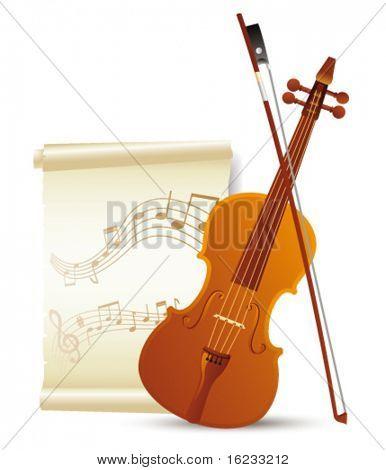 Violin. Vector