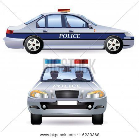 Police car. Vector