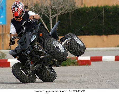 quad wheelie