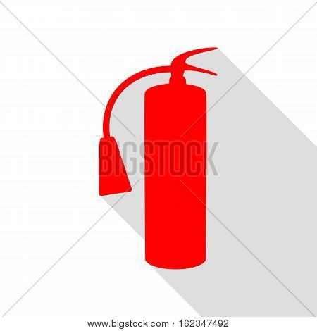 Fire Extinguisher Sign. Red Icon With Flat Style Shadow Path.