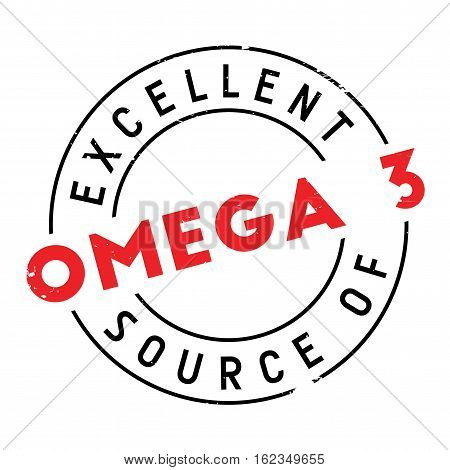Excellent source of omega 3 stamp. Grunge design with dust scratches. Effects can be easily removed for a clean, crisp look. Color is easily changed.