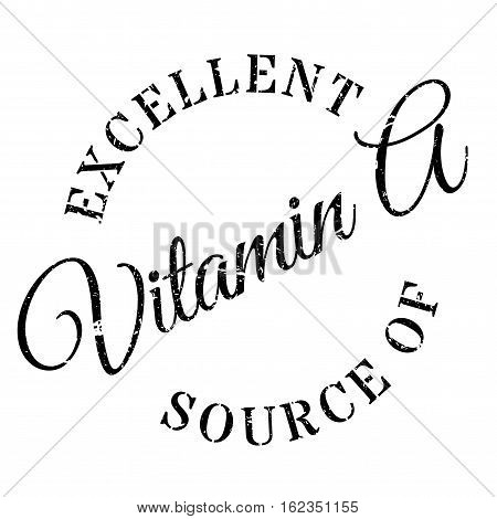 Excellent source of vitamin A stamp. Grunge design with dust scratches. Effects can be easily removed for a clean, crisp look. Color is easily changed.