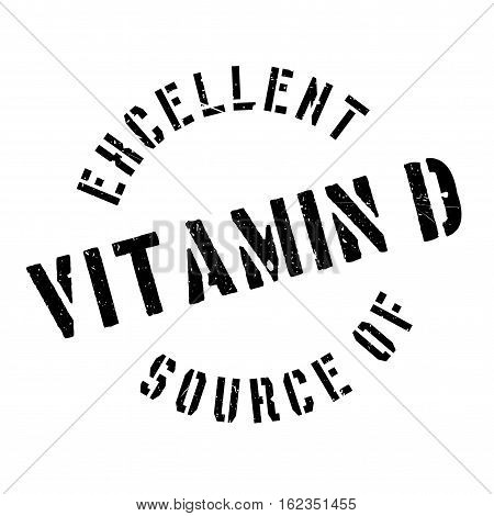 Excellent source of vitamin D stamp. Grunge design with dust scratches. Effects can be easily removed for a clean, crisp look. Color is easily changed.